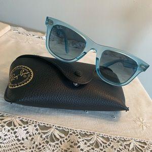 Rayban Clear Blue Rim Wayfarer Ice Pops Sunglasses